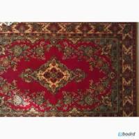 Шерстяной ковер бордового цвета с цветочным орнаментом. Размеры: 2х3 м