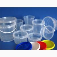 Пластиковая тара для пищевых продуктов: судки круглые, овальные; ведра; контейнера