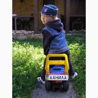 Номерок на детскую коляску, номерок сувенирный, номерок на детский транспорт