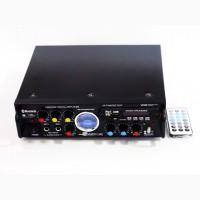 Мощный домашний усилитель звука BSW AV-339BT + USB + КАРАОКЕ 2микрофона Bluetooth