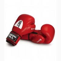 Перчатки боксерские красные 10 унций Green Hill лицензированные Федерацией бокса