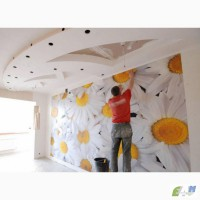Поклейка любых видов обоев, подготовка и покраска обоев в Киеве