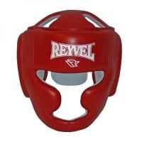 Боксерский шлем тренировочный REYVEL Красный Кожа