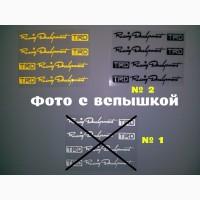 Наклейки на ручки, диски, дворники авто 4 штуки Белая номер 1, Черная номер 2, и Жёлтая