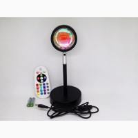 Лампа LED для селфи еффект солнца RGB + пульт (F-20) 23см