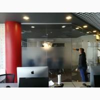 Тонировка офисных перегородок, тонировка стекол офиса, матовая тонировка перегородок