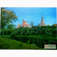 Картина Монастырь холст, масло, 40х60 см