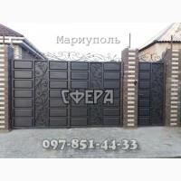Ворота распашные, металлические сварные ворота, кованые, фото, купить, заказать, цена