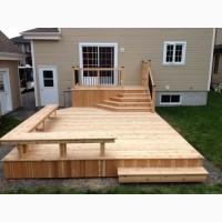 Терраса деревянная строительство ( из дерева или термодерева : сосна, ясеь, дуб) под