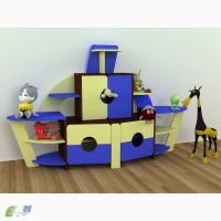 Стенка детская Кораблик Мебель для детских садов