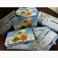 Виготовлення настільних календарів, календарі до Нового року, новорічні календарі