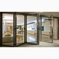 Двери-гармошка из алюминия. Раздвижные двери и окна из алюминия
