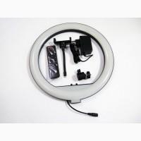 Кольцевая LED лампа YQ-350 34см 220V 1 крепл.тел. + пульт