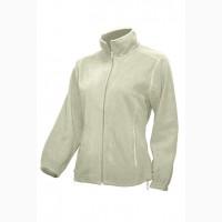 Флисовая курточка женская на молнии белая продам