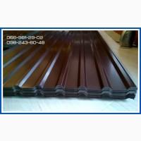 Профлист глянцевый коричневый РАЛ 8017, Глянцевый коричневый металлопрофиль 8017