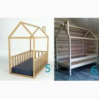 Кроватка-домик, натуральное дерево. Экологично, удобно, красиво
