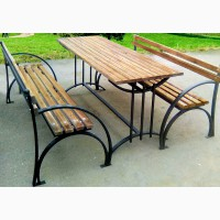 Скамейка садовая, лавочка парковая, кованная скамья для сада, дачи, лавка в парк