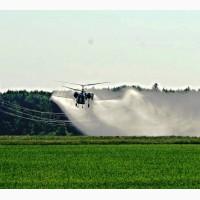 Фунгіцидна обробка полів вертольотами