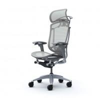 Кресла руководителя OKAMURA CONTESSA II SECONDA Light Gray, серый каркас