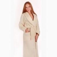 Махровый женский халат