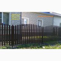 Металлический евроштакет, штакет усиленный, забор из штахета