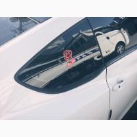 Наклейка Роза Красная выпуклая на авто
