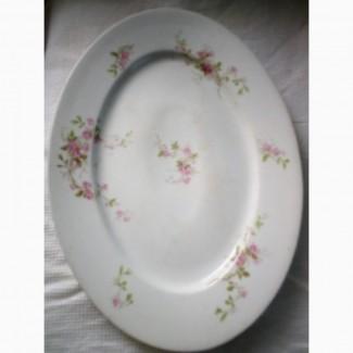 Старинное фарфоровое блюдо Виктория Австрия