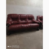 Комплект Кожаной мебели Диван и два кресла 3+1+1